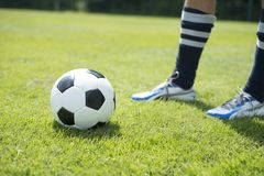 Free Soccer Player With Ball Stock Photos - 41929963