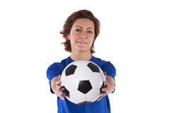 Soccer player woman Stock Photography