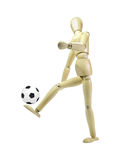 Soccer Player Wood Puppet Stock Images
