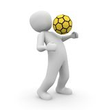 Soccer player yellow Stock Photography