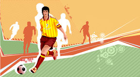 Soccer Players. Soccer Play Illustration and the team Stock Image