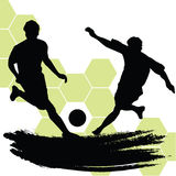 Soccer Players. Illustration of two soccer players Stock Images