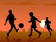 Soccer players Royalty Free Stock Image