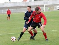 Soccer players. PLACE:ZRENJANIN, SERBIA Royalty Free Stock Photos