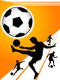 Soccer players. On gradient background Royalty Free Stock Photography