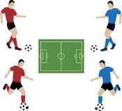 Soccer players Stock Photography