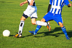 Soccer players in action Royalty Free Stock Photos