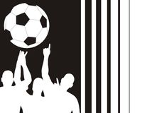 Soccer players and bars Royalty Free Stock Images