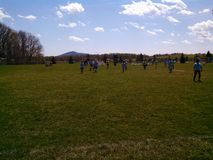 Appalachian  soccer in the spring Royalty Free Stock Images