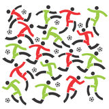 Soccer players decorative background Stock Image