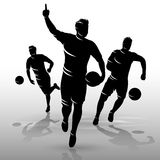 Soccer players design01. Silhouettes group of soccer players design background Royalty Free Stock Photo
