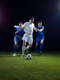 Soccer players duel Royalty Free Stock Photos