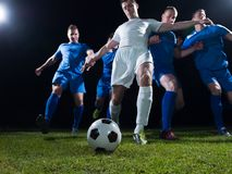 Soccer players duel Stock Photos