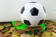 Football player costs stock images