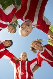 Soccer Players Forming Huddle Royalty Free Stock Photo