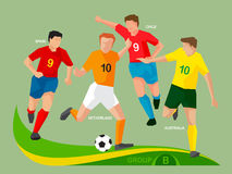 Soccer Players 2014 Group B Stock Photo