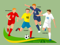 Soccer Players 2014 Group E Royalty Free Stock Image