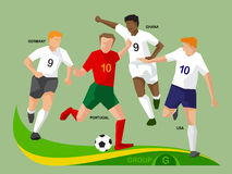 Soccer Players 2014 Group G Stock Image