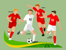Soccer Players 2014 Group H Stock Photography