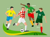 Soccer Players 2014 Group A Royalty Free Stock Photo