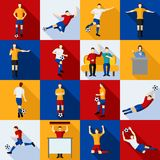 Soccer Players Icons  Flat Set Stock Image