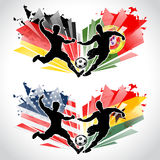 Soccer players representing countries Stock Photography