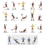 Soccer players set. Soccer players set on white background. forwards, defenders and midfielders Royalty Free Stock Image