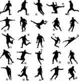 Soccer players silhouettes collection