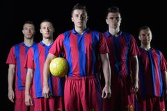 Soccer players team Stock Photos