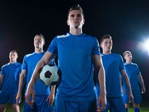 Soccer players team Royalty Free Stock Photos