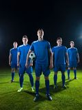 Soccer players team Royalty Free Stock Images