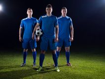 Soccer players team Stock Images