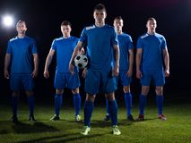 Soccer players team Royalty Free Stock Photo