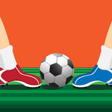 Soccer players. Vector : soccer players design june 2015 Royalty Free Stock Image