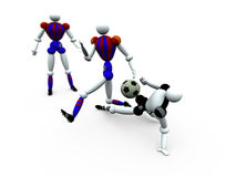 Soccer Players vol 2. 3d Soccer Players Stock Image