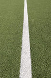 Soccer playing field line Royalty Free Stock Image