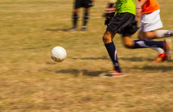 Soccer playing Stock Photography