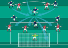 The soccer playmaker flat graphic Royalty Free Stock Photos