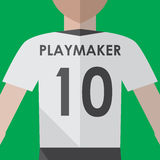 Soccer playmaker number10 Royalty Free Stock Photography