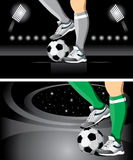 Soccer poster Royalty Free Stock Image