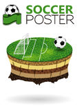 Soccer Poster Royalty Free Stock Photos