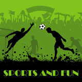 Soccer Poster Stock Photo