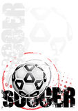 Soccer poster background Royalty Free Stock Images
