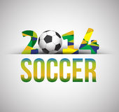 Soccer poster 2014 Stock Photo