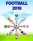 Soccer poster with Flag Buttons Royalty Free Stock Image