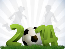 2014 Soccer Poster. With Football Stock Image