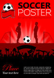 Soccer Poster Royalty Free Stock Photography