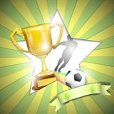 Soccer Poster With Trophy Cup. Royalty Free Stock Images