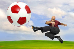 Soccer power Stock Photography