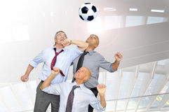 Soccer power Stock Image